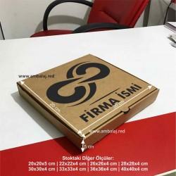 Baskılı Pizza Kutusu | 100 Adet