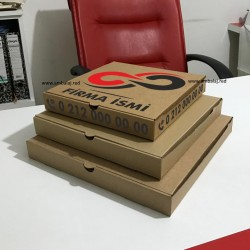 Baskılı Pizza Kutusu | 2500 Adet