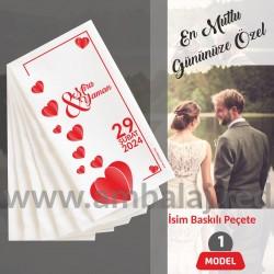 İsim Baskılı Peçete | Düğün Özel