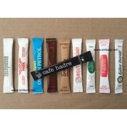 Logo Baskılı Esmer Stick Toz Şeker | 10 bin adet