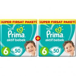 Pampers Prima Bebek Bezi Aktif Bebek 6 Beden Ekstra Large 100 Adet